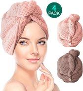 4pack haarband dames  Haardroger handdoeken Hoofddoek dames  Haar handdoek –Handdoek microvezel haar