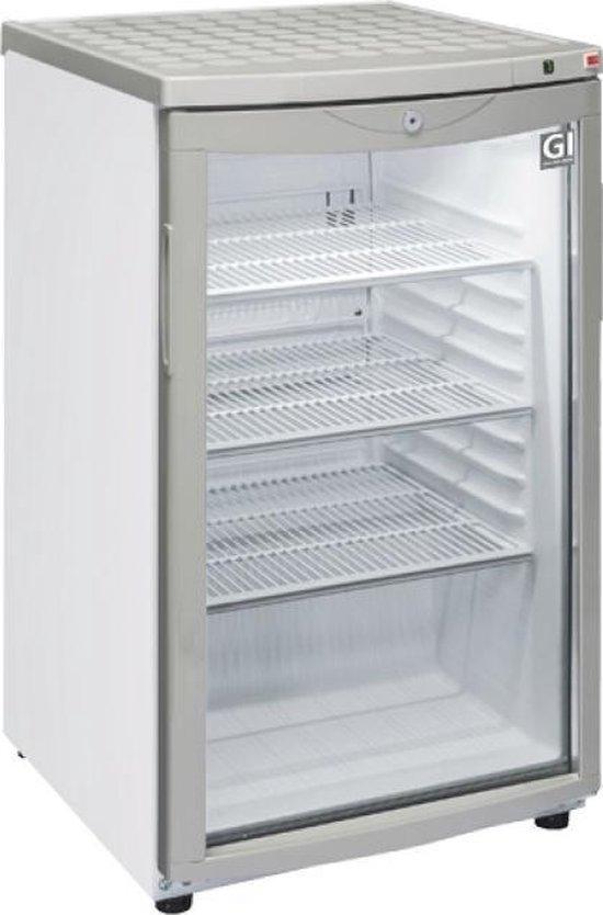 Koelkast: Gastro-Inox 85 liter display koelkast, van het merk Gastro Inox