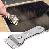 Glaskrabber schraper voor reinigen Keramische,  Inductie, Halogeen, Kookplaat + 1 reservemes