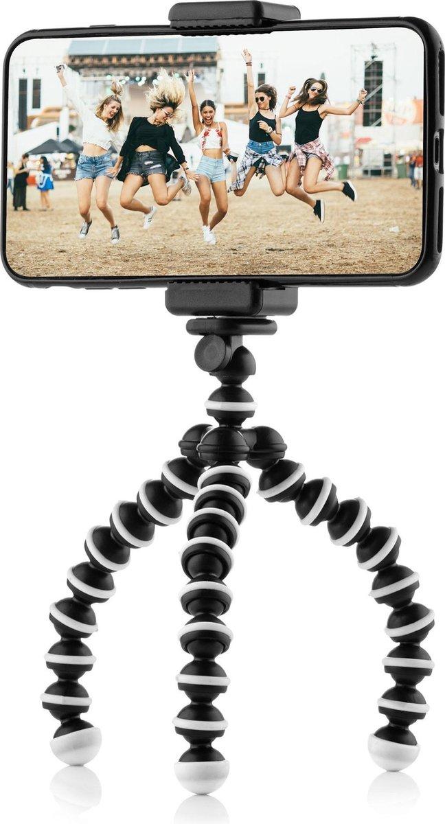 Flexibel mini-statief voor smartphone en GoPro - met telefoonhouder - octopus mini tripod
