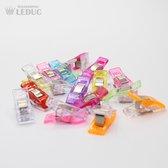 50 stuks - Wonder clips - Kleine knijpertjes - Vervanging voor spelden - Wonderclips
