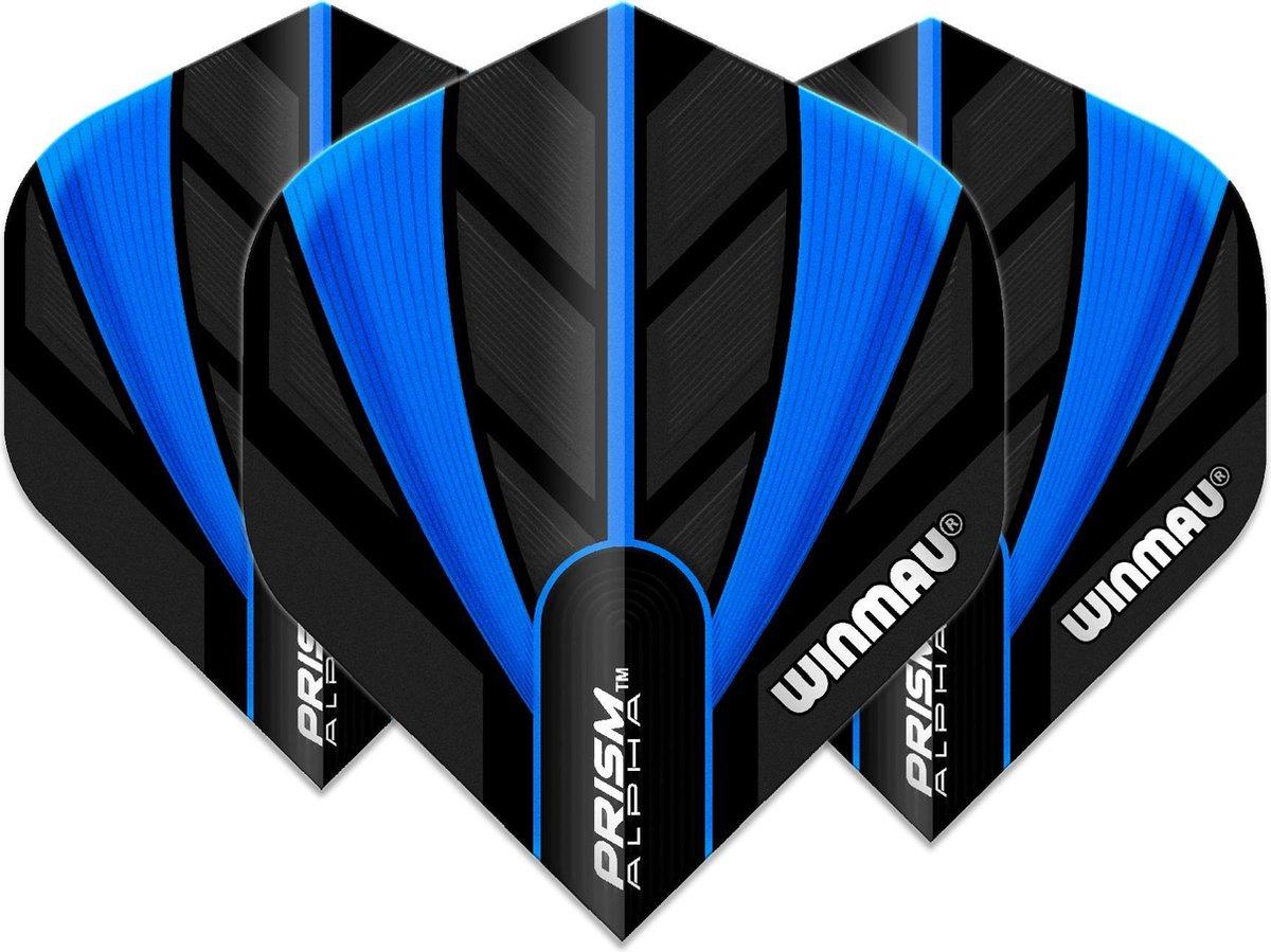 Winmau Prism Alpha dart flight Zwart & Blauw