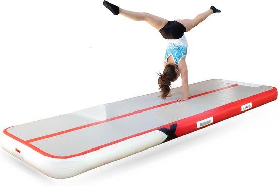 YouAreAir Turnmat — AirTrack Pro 4.0 | 3 meter — 15cm dik | Gymnastiek | Waterproof | 50% gem. meer volume - 3m mat opblaasbaar met pomp