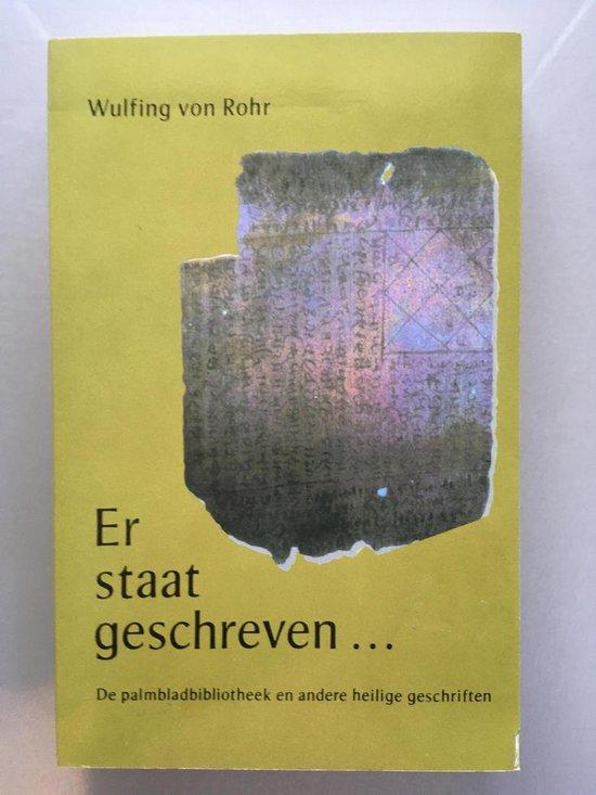 ER STAAT GESCHREVEN - Van Rohr | Fthsonline.com