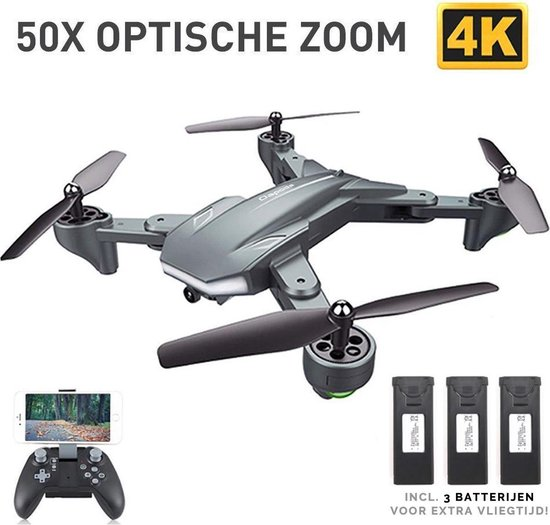 Afbeelding van BattleShark Smart Drone met Camera - 4K Full HD Dual Camera - 50x Zoom - 5G Wifi - 60 Minuten Vliegtijd - Foto - Video - Quadcopter