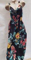 Merkloos Lange jurk bloemenprint Dames Jurk One Size