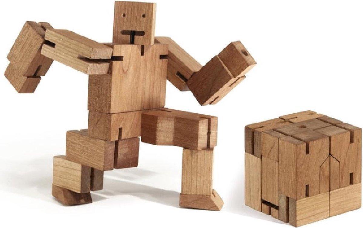 Houten Kubus Robot | 3D Puzzel | Denken | Brein Puzzel | Speelgoed Hout |Educatief Speelgoed | Denkpuzzel