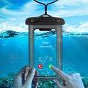 Mobstore Waterdichte Telefoonhoesje Zwart- Volledig waterbestendige Telefoon hoes - Geschikt voor alle Smartphones - Ook voor paspoort & betaalpassen - Waterdichte telefoonhoesjes