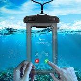 Mobstore Waterdichte Telefoonhoesjes Zwart - Onderwater hoesje telefoon - Geschikt voor alle Smartphones - Ook voor paspoort & betaalpassen – Waterdichte telefoonzakje