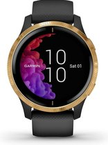Garmin Venu - Smartwatch - 43 mm -  Zwart/Goud