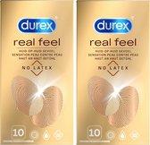 Durex Real Feeling - Condooms - Latex Vrij - 2 x 10 stuks