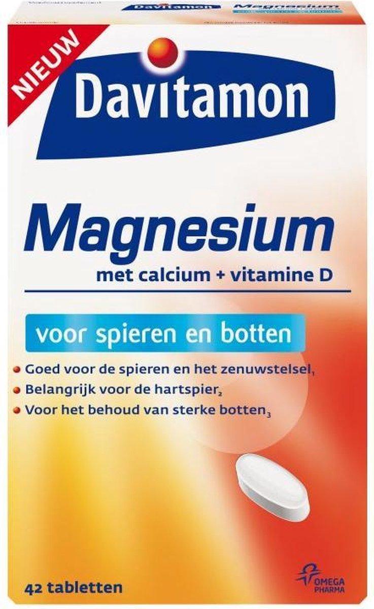 Davitamon Magnesium Tabletten   magnesium met Calcium en Vitamine D - Voor spieren en botten - Voedi