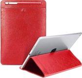 Let op type!! Universele Case Sleeve tas voor iPad 2/3/4/iPad Air/Air 2/Mini 1/mini 2/Mini 3/Mini 4/Pro 9 7/Pro 10 5  met potlood geval & houder (bruin)
