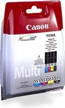 Canon CLI-551 C/M/Y/BK w/sec inktcartridge Zwart, Cyaan, Magenta, Geel