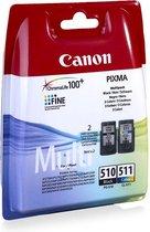 Canon PG-510/CL-511 Multi Pack Origineel Zwart, Cy