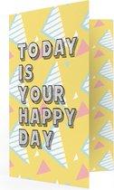LocoMix - Wenskaart met muziek - Zomaar- Muziekkaart met geluid - Felicitatie - Happy Day