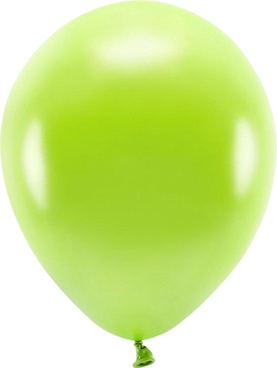 100x Lichtgroene/limegroene ballonnen 26 cm eco/biologisch afbreekbaar - Milieuvriendelijke ballonnen - Feestversiering/feestdecoratie - Lichtgroen thema - Themafeest versiering