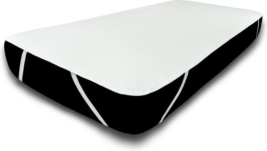 UNIFICATO waterdichte matrasbeschermer 160x200cm - 100% katoenen badstof - wit