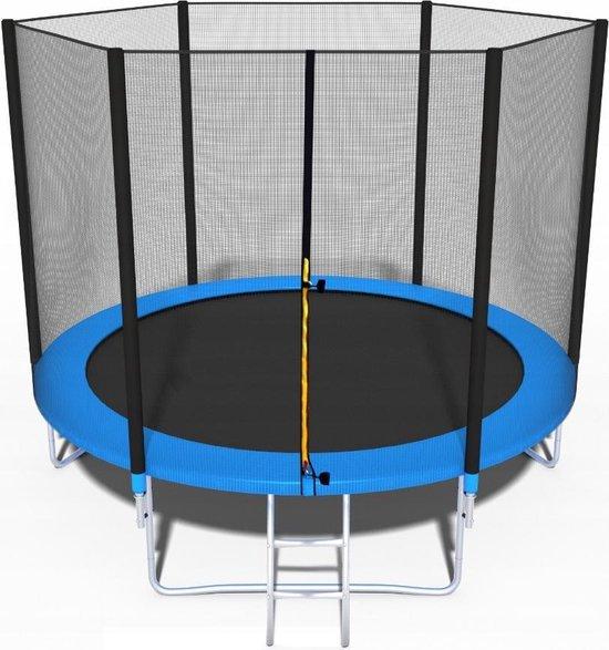 Trampoline - blauw - 252 cm - met net en ladder - tot 100 KG