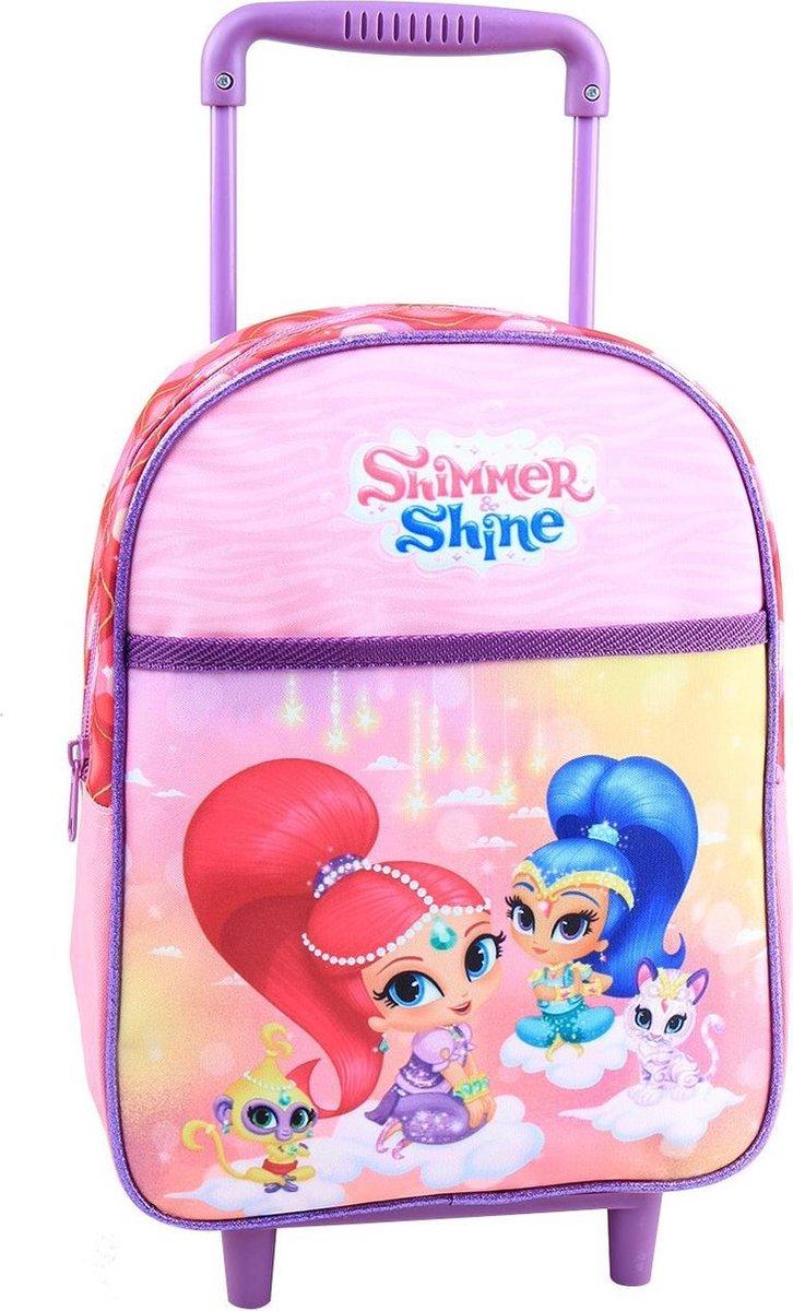SHIMMER & SHINE Trolley Koffer Logeren Vakantie Roze Lief kopen
