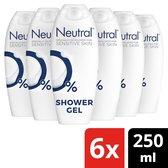 Neutral Sensitive Skin Douchegel - 6 x 250 ml - Voordeelverpakking