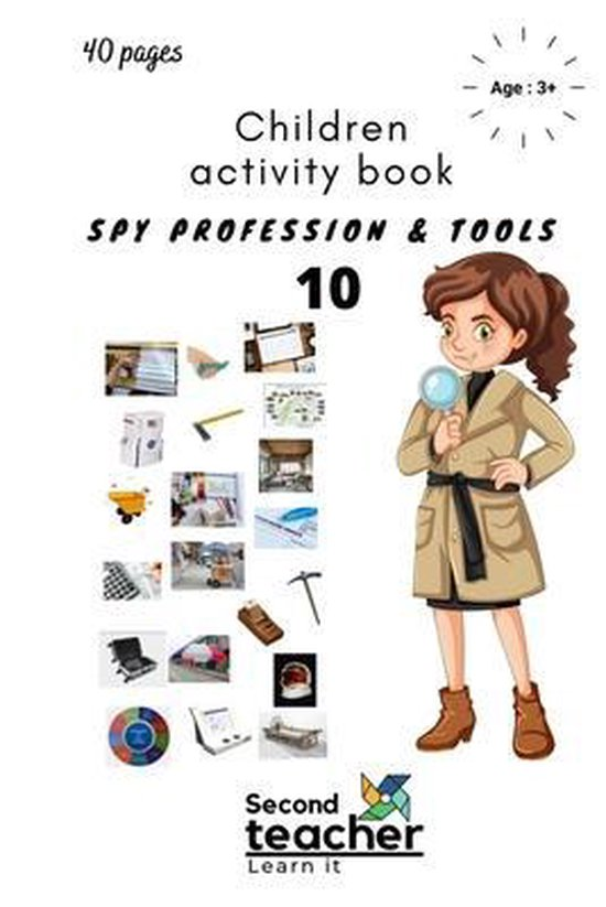 Spy Profession and Tools;children Activity Book-10