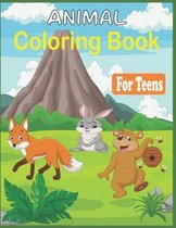 Animal Coloring Book For Teens