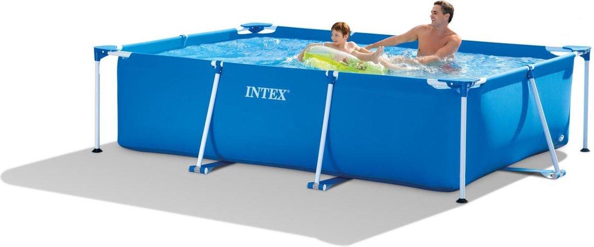 Intex Metal Frame zwembad - Rechthoek - 260 x 160 x 65 cm - Blauw
