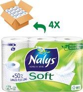 Nalys Soft toiletpapier - 24 rollen - 1,5 keer zoveel vellen per rol - in recycled folie