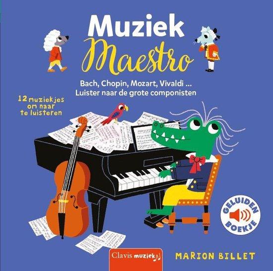 Boek cover Muziek maestro (geluidenboek) van Marion Billet (Onbekend)