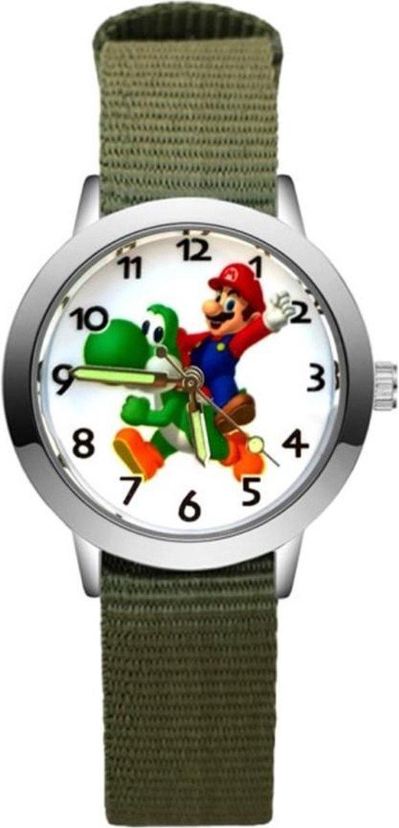 Super Mario - Kinderhorloge - Mario - Horloge - Mario Kart - Mario Speelgoed - Groen/Yoshi