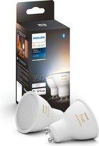 Philips Hue Slimme Lichtbron GU10 Duopack - White Ambiance - 5W - Bluetooth - 2 Stuks