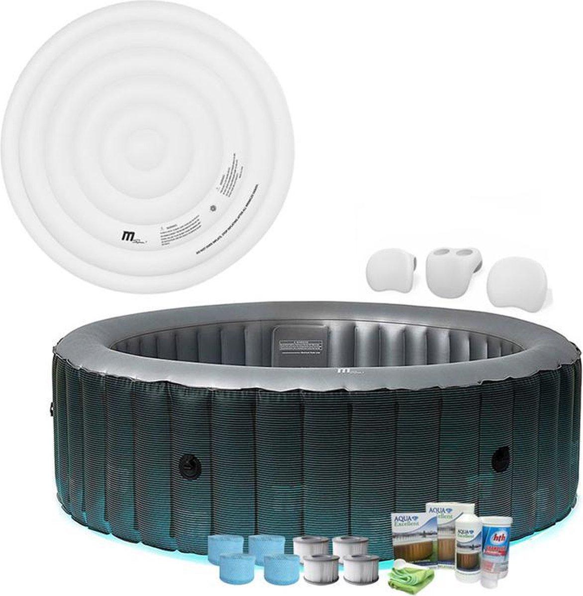 MSpa Starry - opblaasbare spa - 6-persoons - LED verlichting - voordeel set