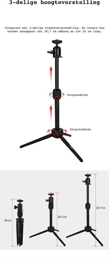 Life of Bay Beamer Statief Elite - Beamer Standaard - Tripod - Aluminium - Geschikt voor Mini Beamer - Xiaomi - Anker - XGIMI - Philips