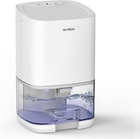 Hi-Tech Luchtontvochtiger - Ontvochtigd 350ML Per Dag - 2-in-1 Luchtreiniger Dehumidifier - Stil - Slaapkamer / Badkamer / Huis - Coloured LED - Wit