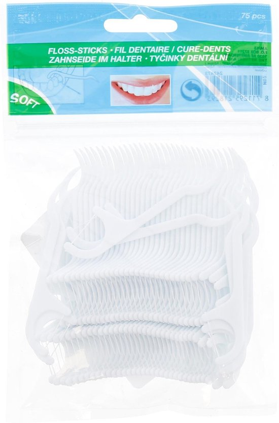 Soft Floss-sticks - Zacht Flosdraad - Tandenstoker - 75 stuks