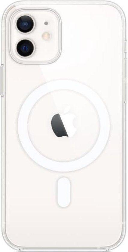 Hoesje met MagSafe voor iPhone 12 (Pro) - Transparant