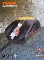 Qware - muis - gaming - Tampa - RGB verlichting - 7200dpi - 8 knoppen