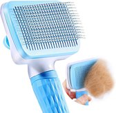 Faseras Kattenborstel/Hondenborstel - Kattenkam - Kattenhaar - Hondenhaar - Huisdierhaar Verwijderaar - Haarverwijderaar voor Huisdieren - Langharig/Kortharig - Blauw