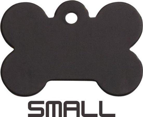 Hondenkeldertje - Dierenpenning | Classic Bone - Small- Black| 28x18mm | tweezijdig graveren | inclusief verzendkosten |Kwaliteit product