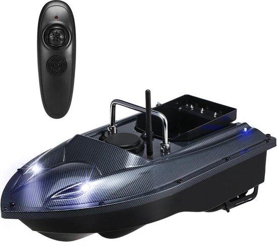 BrightWise® Voerboot Dubbele Fluistermotor - Voerboot karper - Baitboat - Karpervissen - Visspullen - Vissersboot - Vis accessoires - 2,5 Kg Draagvermogen - Grijs