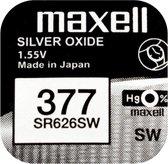 MAXELL 377 / SR626SW zilveroxide knoopcel horlogebatterij 1 (een) stuks