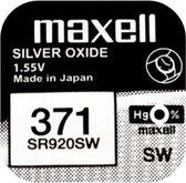 Maxell 371 / SR920SW zilveroxide knoopcel horlogebatterij 3 (drie) stuks