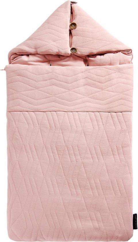 Product: House of Jamie Voetenzak Jacquard Powder Pink, van het merk House of jamie