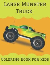 Large Monster Truck Coloring Book for kids