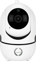 Indoor IP Camera Pro  - 1080P WIFI Smart Camera - Beveiligingscamera - HD Night Vision - Bewegingsdetectie – Spraakfunctie – Binnen Camera WIFI– Slimme IP Camera - 360° Draaibaar – Fisheye – Huisdier / Baby camera - Babyfoon - Wit