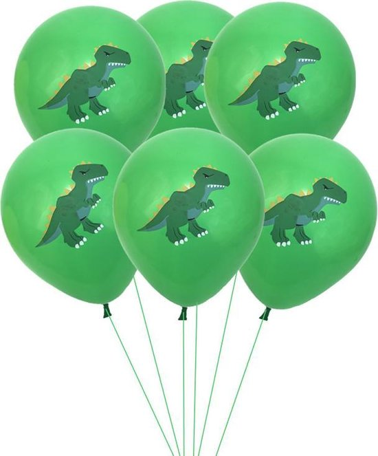 DINOSAURUS Ballonnen GROEN - set van 6