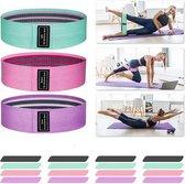 Weerstandsbanden - Hoge kwaliteit - 3 stuks - incl. opbergzakje en handleiding met oefeningen-workout-yoga-resistance banden-benen en billen-thuis sporten