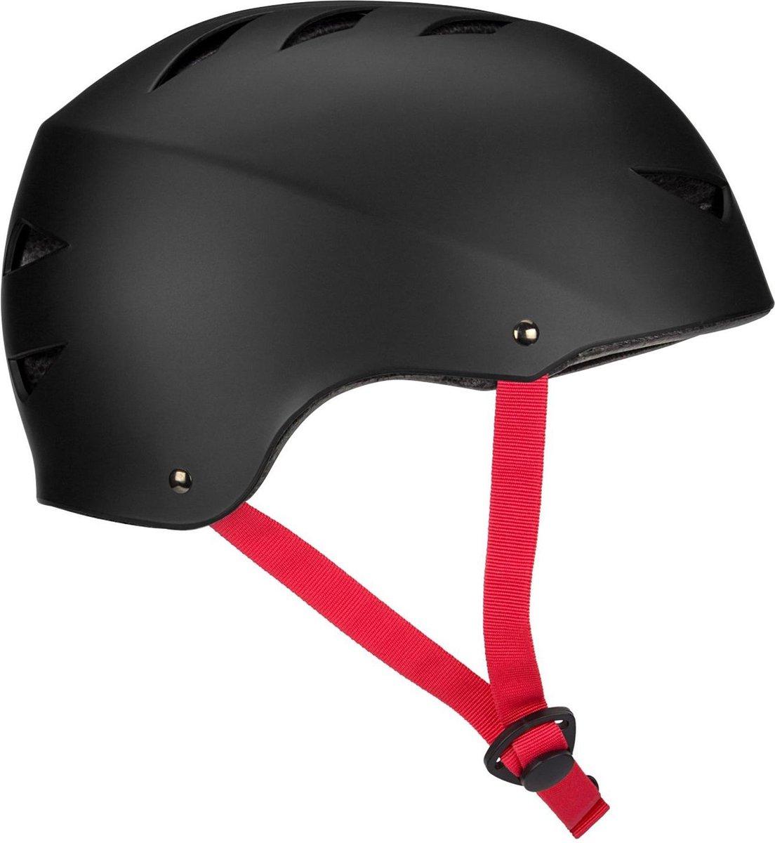 Nijdam Skate Helm - Vert Fyre - Zwart/Rood - L