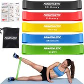 Panathletic Weerstandsbanden – Set van 5 – Handleiding – Opbergzakje – eBook met Extra Oefeningen – Multicolor